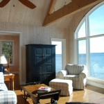 Lake Simcoe Boathouse Living Room
