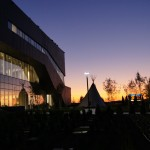 Georgian College Health and Wellness Centre at Night